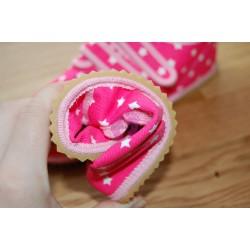 Beda barefoot světle růžové s hvězdami vycházkové tenisky ohebnost