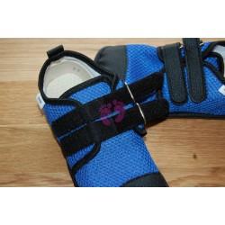 Beda barefoot světle modré vycházkové, tmavá podrážka, zapínání