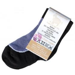 Surtex letní dětské 50% merino ponožky fialové
