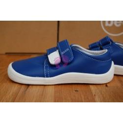 Beda barefoot nízké kožené vycházkové boty - modré