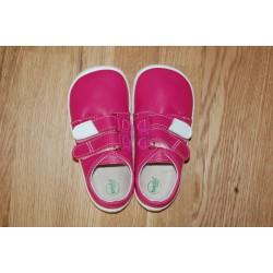 Beda kožená vycházková barefoot obuv růžová