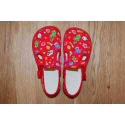 Beda barefoot papučky Červená rybky