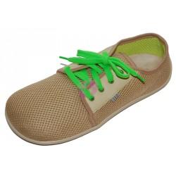 Beda barefoot síťované tenisky, béžové, BF0002/ST