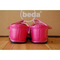 Beda boty barefoot malinové kožené