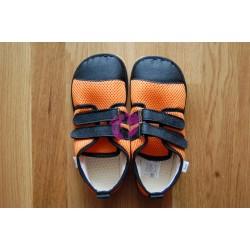 Beda barefoot oranžové tenisky, světlá podrážka