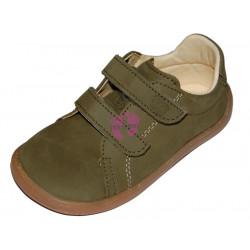 Baby Bare Shoes Febo Spring Khaki Nubuk