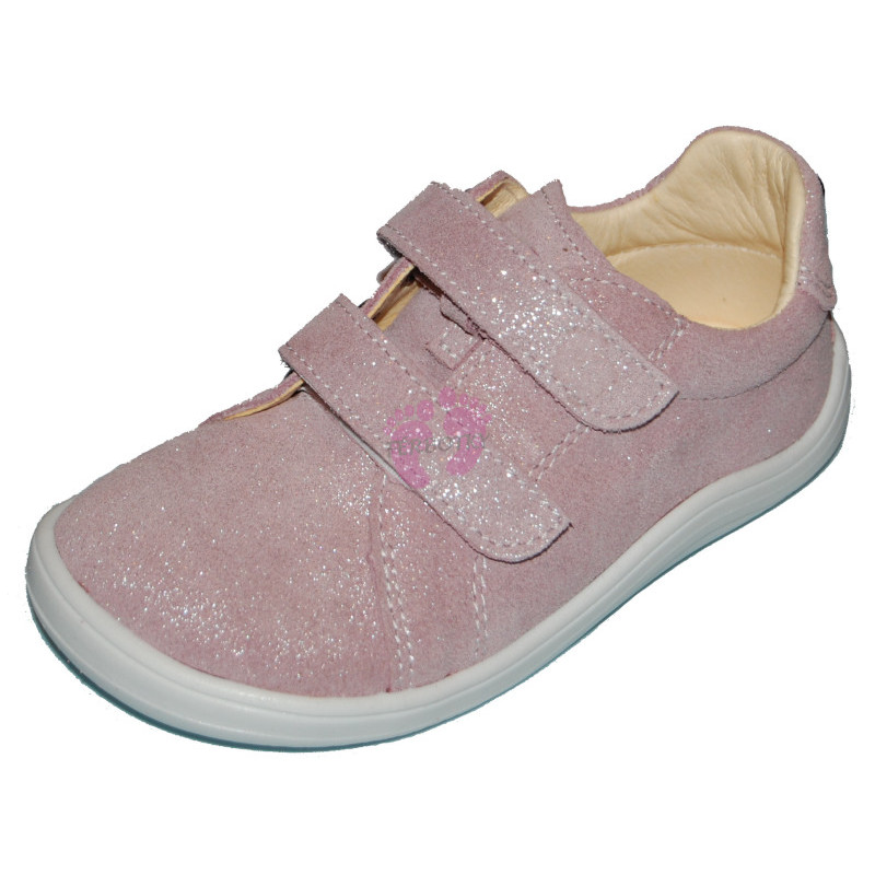 Baby Bare Shoes Febo Spring Sparkle pink Velour