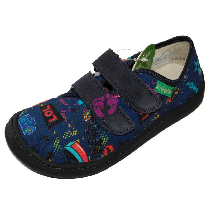 Dětské Barefoot tenisky Froddo - plátěné Blue+ G1700270-3
