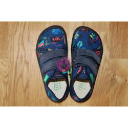 Barefoot tenisky Froddo - plátěné Blue+ G1700270-3