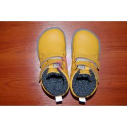 Dětské zimní barefoot boty Be Lenka Penguin - Yellow