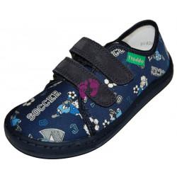 Froddo Barefoot tenisky - plátěné Blue+ G1700283-6