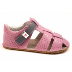 Ef Barefoot sandálky Růžová s šedou