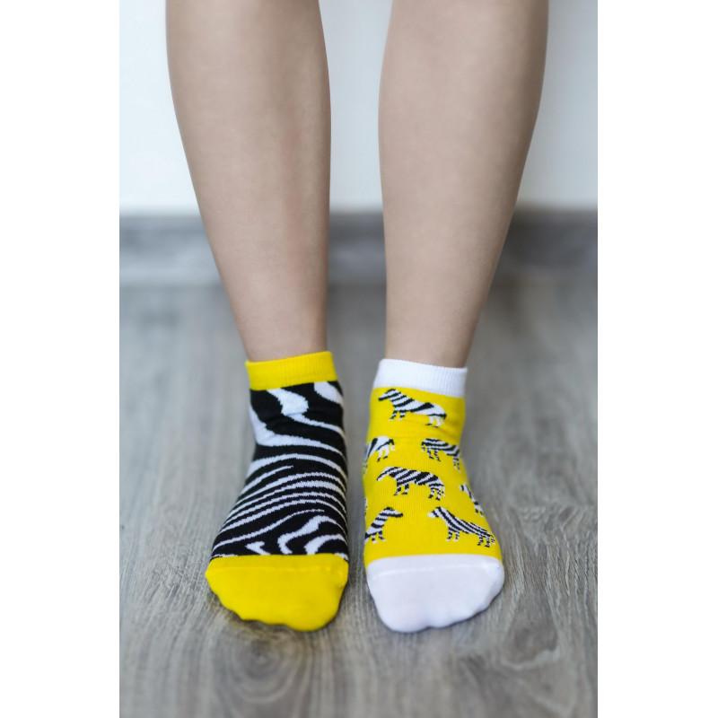 Barefoot ponožky Be Lenka krátké - Zebra