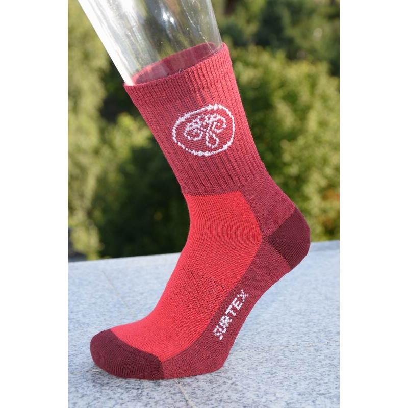 Surtex 80% merino dětské Aerobic ponožky červené