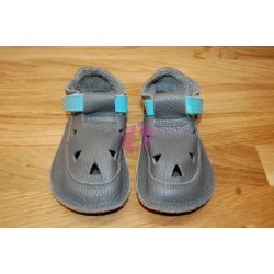 Baby Bare Shoes Blue Beetle Top Stitch