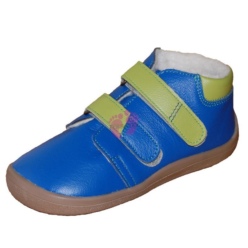 Marcus - zimní Beda-boty barefoot, modré
